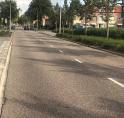 Afsluitingen Lindenlaan voor nieuw asfalt met rode fietsstroken