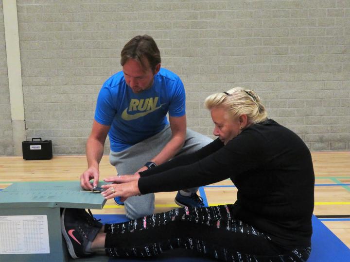 Fit-test in sporthal De Meerkamp