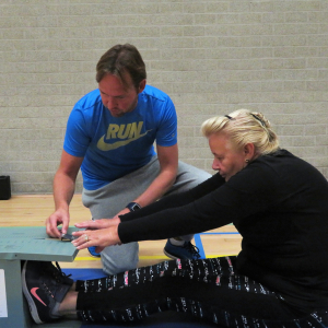 Fit-test in sporthal De Meerkamp
