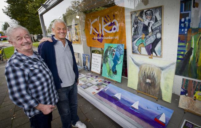 Amstelveense poelier schildert voor KiKa; barbier exposeert