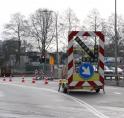 Kruispunt Beneluxbaan/Sportlaan deels afgesloten door verzakking