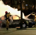 Nachtelijke autobrand: taxi in de as gelegd