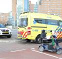 Bestuurder scootmobiel gewond bij aanrijding met scooter