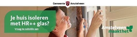 Gemeente Amstelveen glas in tekst banner