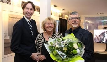 Locoburgemeester feliciteert firma Koudijs met 100ste verjaardag