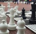 Stadsplein in teken van schaakevenement