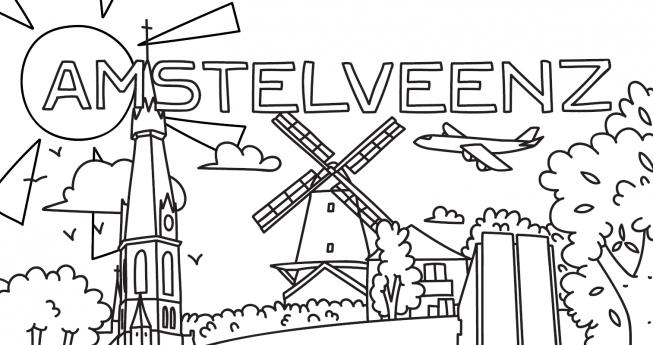 Kids: AmstelveenZ kleurplaat