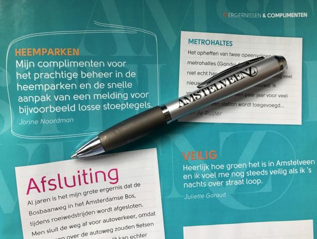 Oproep: Ergernissen & Complimenten in Amstelveen