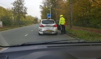 Auto's op elkaar gebotst op Beneluxbaan