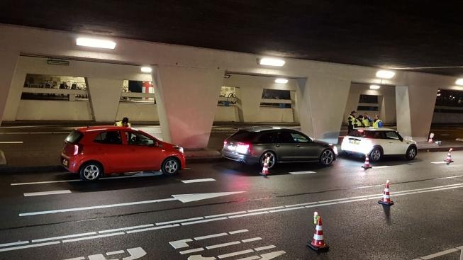 Politie voert controle uit bij Oranjebaan