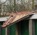Tijdelijke containers voor gedupeerde eigenaren garages Maarten Lutherweg