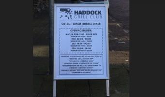 Bord van Haddock Grill Club gejat. Wie weet meer?