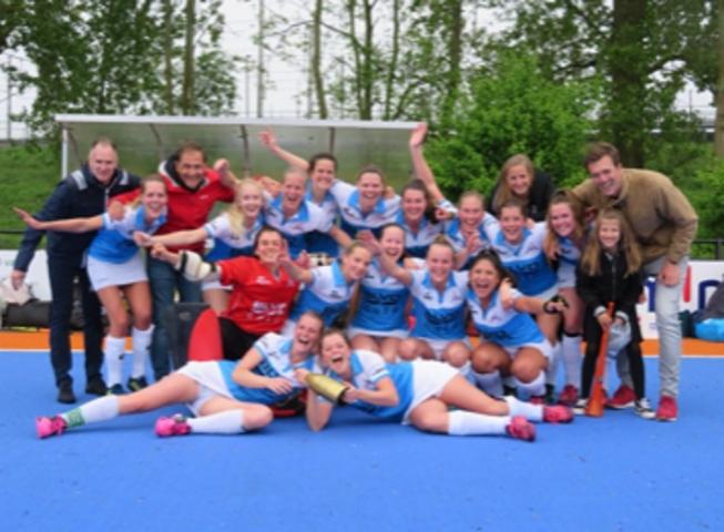 MHC Amstelveen Dames 1 wordt kampioen zonder hoofdcoach