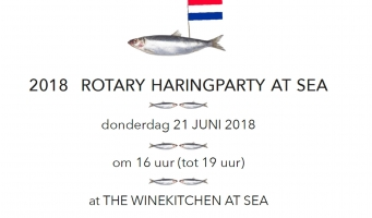21 juni 2018: Rotary Haringparty At Sea