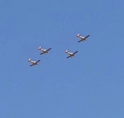 'Fokker Four' in formatie boven Amstelveen