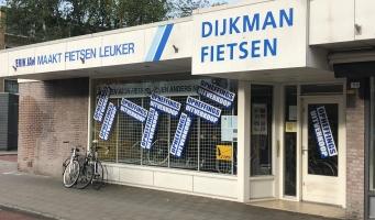 Dijkman Fietsen stopt er mee: opheffingsuitverkoop