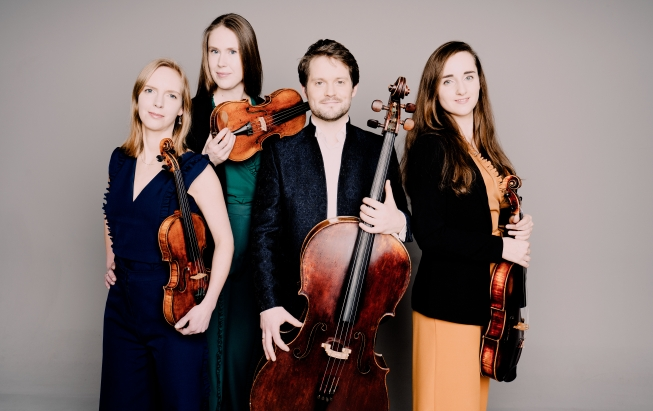 Dudok Kwartet treedt op in Johannes Kapel