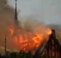 Grote brand uitgebroken in Urbanuskerk Bovenkerk