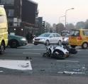 Motorrijder gewond bij ongeval