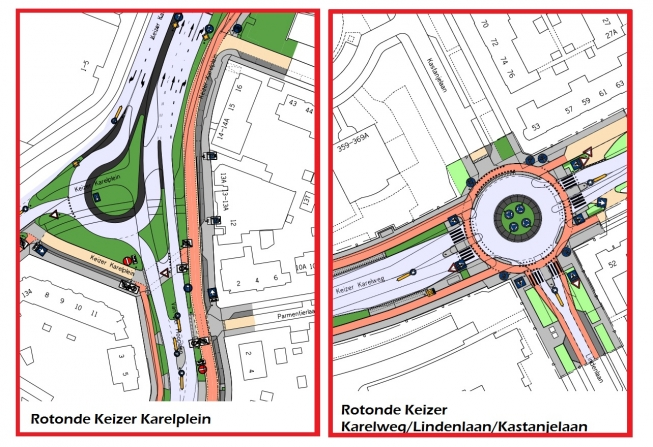 Definitieve ontwerpen nieuwe Amstelveense rotondes vastgesteld