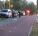 Politiefuik op fietspad Bovenkerkerweg