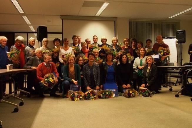 Vrijwilligers KWF Amstelveen in zonnetje gezet
