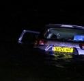Auto te water in Aalsmeer