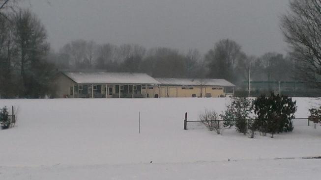 Sportvelden afgekeurd door sneeuwval