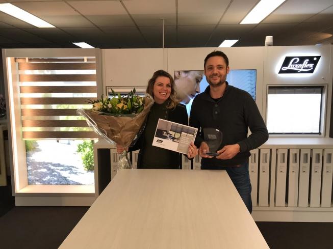 Vonk & Vloer Luxaflex® Dealer van het Jaar voor Amstelveen
