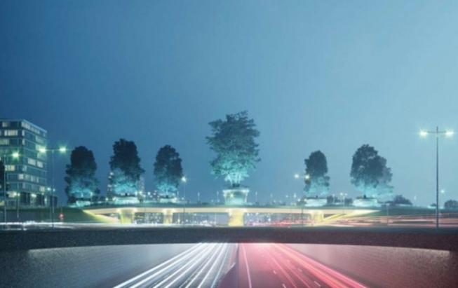 Amstelveen krijgt verlichte bomenbrug over Rijksweg A9